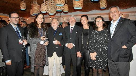 Juan Carlos Jiménez, María José Maciá, Juan Carlos Rosselló, Rafel Salas, Irene Jover, Gloria Rosillo y Toni Mercadal.