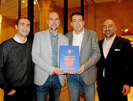 Pep Lluís García, Sergio Rodríguez, Antoni Pons y Jordi Cubain.