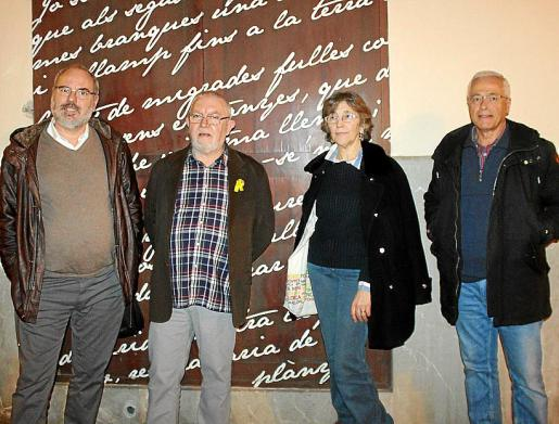 Antoni Sedano, Rafel Horrach, Carmentxu Erice y Paco Sáez.