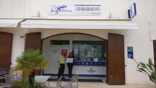 El despacho de loterías Can Mariano Palerm que vendió el boleto premiado.