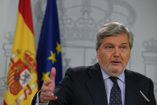 El portavoz del Gobierno, durante la rueda de prensa posterior a la reunión semanal del Consejo de Ministros.
