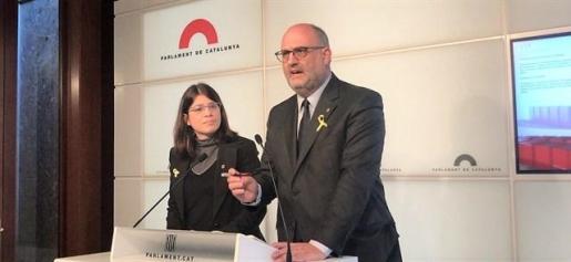 Gemma Geis y Eduard Pujol de JxCat.