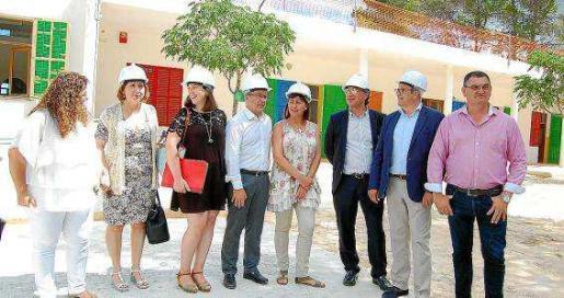 Imagen de archivo de junio de 2016 en el que Armengol visitó las instalaciones del colegio.