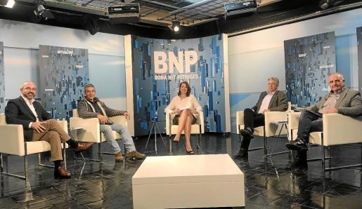 Vicent Roig, Gianandrea di Terlizzi, Enric Casanova y Joan Torres debatieron en el programa Bona Nit Pitiüses.