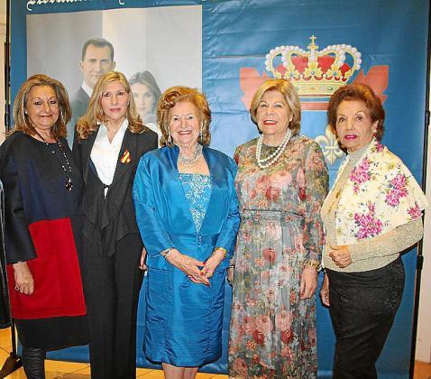 Malena Grúa, Jero Rubí, María Fullana, Carmen Carreras y Manoli Barroso.
