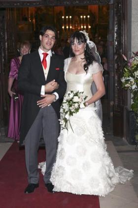 Irene Villa y Juan Pablo, ya convertidos en marido y mujer.
