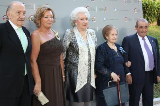 Leandro Plaza, Elo Gutiérrez, Pilar de Borbón, Francisca Acera y Juan José Hidalgo.