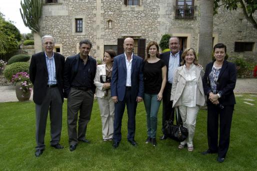 Pere Comas, Miquel Serra, Antonia Mascaró, Antoni Pastor, Gabriela Palou, Jesús Boyero, María Mascaró y Carme Serra.