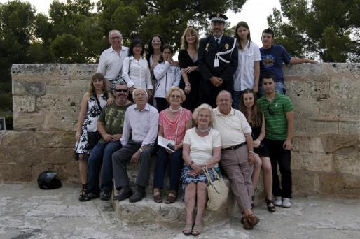 Todos los familiares de Francisco Fiol se reunieron con él en el Catillo de Bellver.