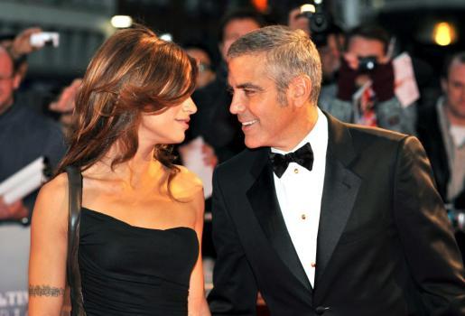 George Clooney, con su novia, Elissabetta Canalis.