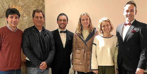 Sebastià Nadal, Antoni Sureda, Joan Ciria, Maria Antònia Sansó, Bàrbara Sagrera y Antoni Lliteres.