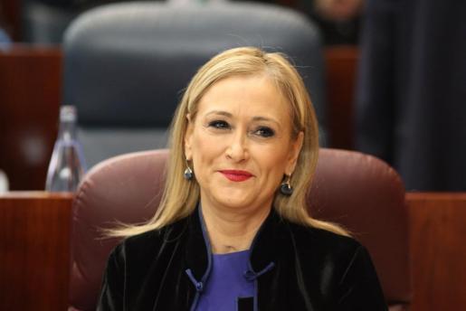 Cristina Cifuentes en la asamblea de Madrid.