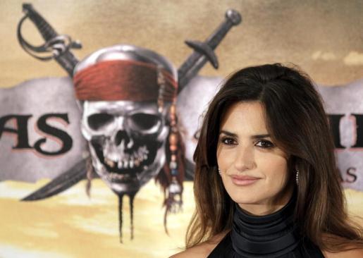 La actriz Penélope Cruz, en el estreno de 'Piratas del Caribe'.