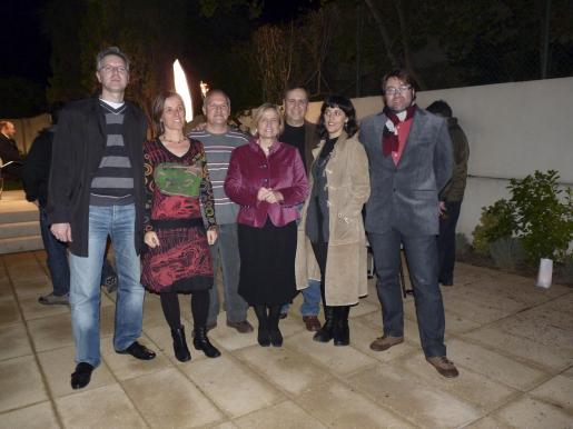 Jordi Tornilla, Aina Llauger, Diego Villalonga, Mercè Amer, Chango Muntaner, Marisa Goñi y Albert Travesset.