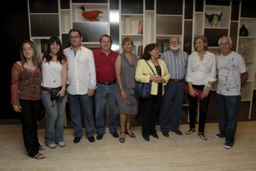 Caterina Cortés, Asun Bordoy, Llorenç Caldentey, Biel Caldentey, Joana Vidal, Lina Palmer, Biel Cortés, Amparo Morell y Javier Montaner.
