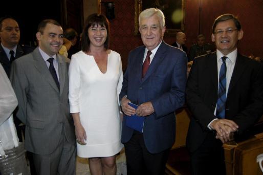 Cosme Bonet, Francina Armengol, Gabriel Cañellas y Vicenç Thomàs.