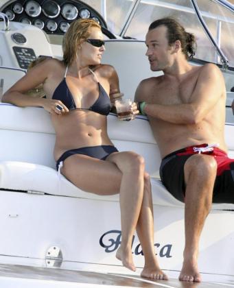Carlos Moyà y Carolina Cerezuela en unas vacaciones en Mallorca.