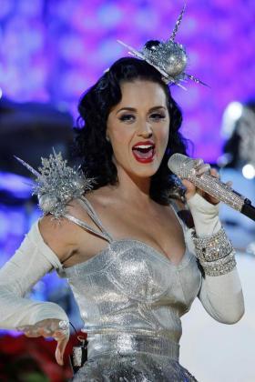 La cantante Katy Perry durante un concierdo.