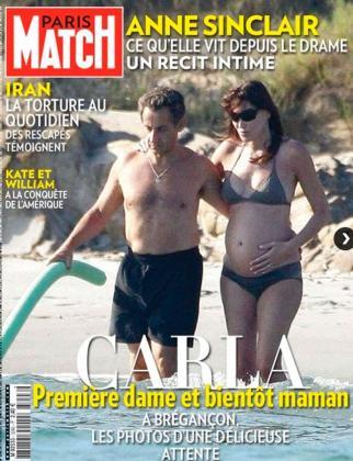 Portada de la revista francesa Paris Match, protagonizada por el presidente Nicolas Sarkozy y su mujer, Carla Bruni.