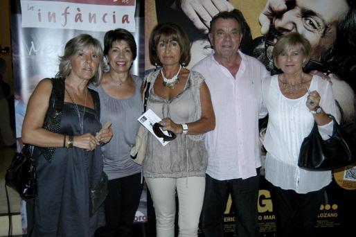 Cati Gost, Mari Moreno, Marí Luz Mata, Toni Pol y Antonia Horrach.