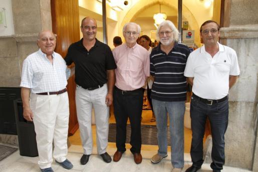 Toni Puente, Miquel Angel Mateu, Miquel Solivellas, Pep Ferragut y Joan Valero.