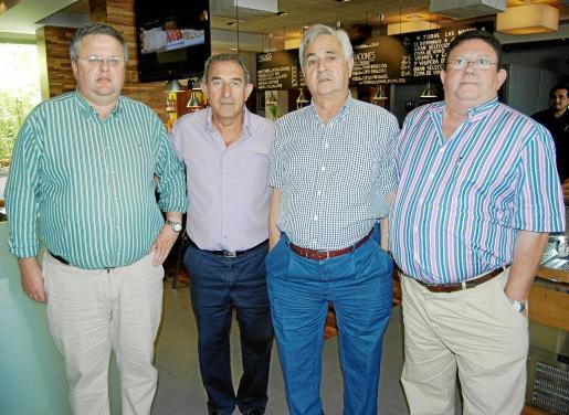 Rafel Roig, Pedro Oliver, Rafel Llompart y Alfonso Ribas.