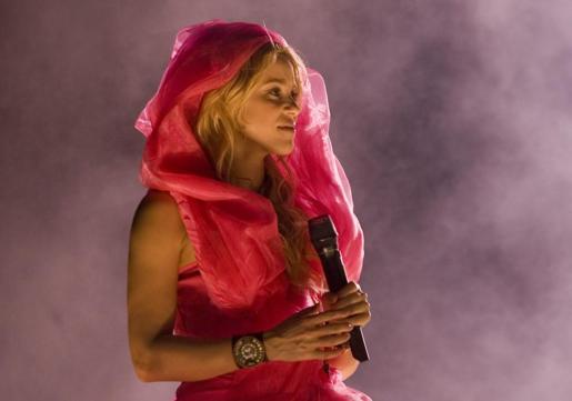 La cantante colombiana Shakira durante su concierto en la ciudad de Buenos Aires.