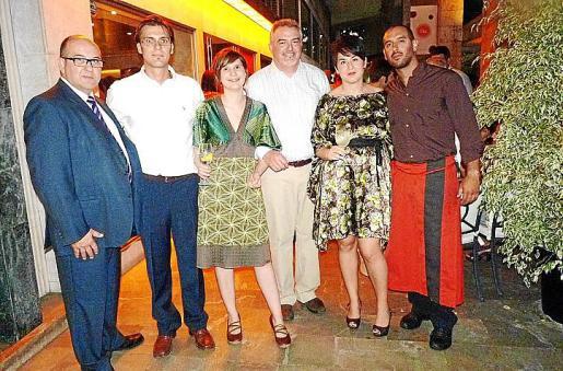 Adolfo Villarroel, José Pérez, Silvia Ginard, Joan Torrens, Judith Ardite y Esteban Mújica.
