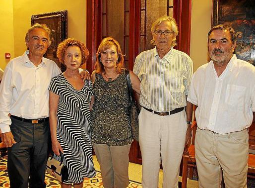 Enrique Salamanca, Catalina Marsa, Sandy Hemingway, Carlos Zayas y Paco Lorenzo.