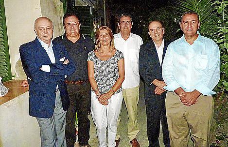 Joan Guaita, Pere Cantarero, María Antonia Carbonell, Pedro Núñez, Joan Pascual y Pere Ollers.