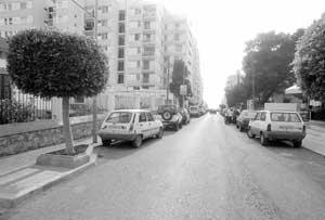 La calle Balanzat, donde comenzó la investigación. Foto: GERMÁN G. LAMA.