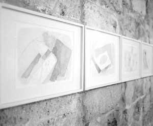 En la imagen, obras de la exposición con la que la galería Van der Voort inaugura la temporada. Foto: GERMÁN G. LAMA.