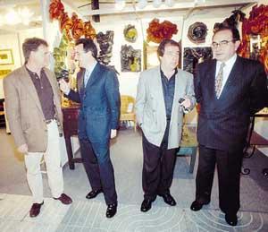 El vicepresidente del Consell, Pere Palau, junto al presidente de la Pimeef, Antoni Marqués, el alcalde de Eivissa y el secretario general de la Pimeef. Foto: GERMÁN G. LAMA.