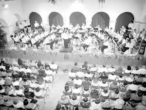 La Banda Ciutat d'Eivissa, durante una de sus actuaciones.