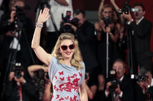 La cantante y directora americana Madonna, a su llegada a la 68ª edición del Festival de Cine de Venecia.