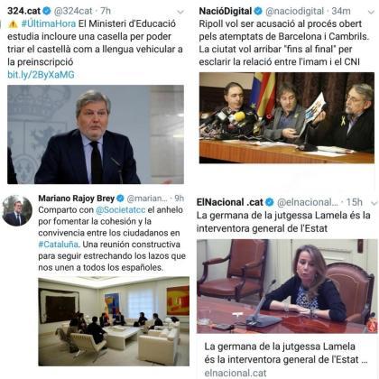 Instantáneas que Carles Puigdemont acompaña en su tuit.