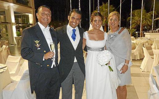 Xisco Pou, Àlvaro Gutiérrez de Cabieces, Marta Pou y Paloma Alonso.