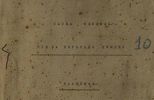 Expediente 7, Causa General, sobre el asesinato de los sacerdotes ibicencos. Cortesía del Archivo Histórico Nacional.