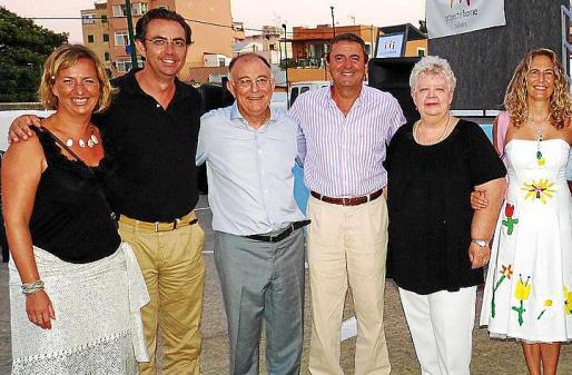 Cristina Beascoechea, Alejandro Sáenz de San Pedro, Tomeu Catalá, Pere Rotger, Ulla Ericson y Carmen Sampol.