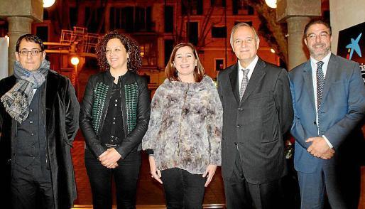 Iago Negueruela, Catalina Cladera, Francina Armengol, Andreu Rotger e Hilari Llabrés.