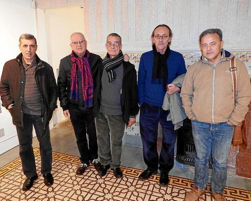 Pere Colom, Joan Manresa, Pep Canyelles, Jaume Pinya y Salvador Martínez.