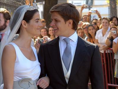 Julián López 'El Juli', con su esposa, Rosario Domecq, el día de su enlace.