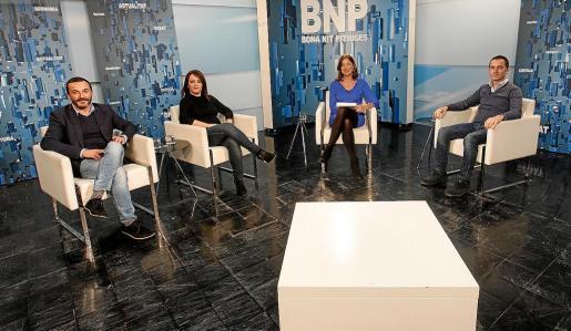 Rafa Ramírez (PSOE), Alejandra Ferrer (GentxFormentera), Amalia Sebastián y José Manuel Alcaraz (PP).