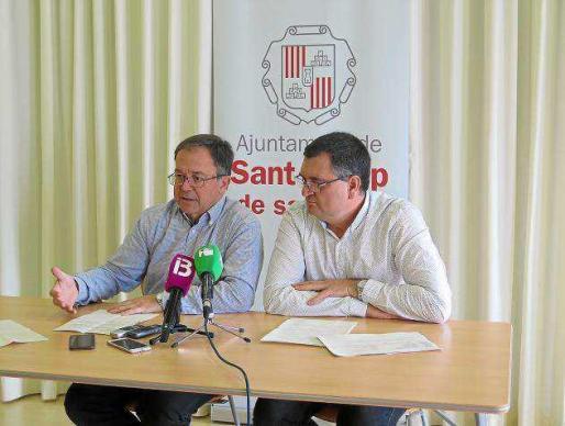Josep Marí Ribas y Ángel Luis Guerrero ayer en rueda de prensa.