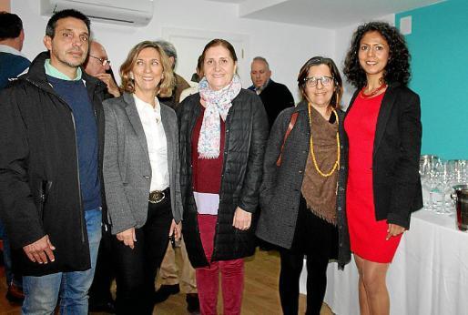 Matías Rosselló, Margalida Pons, Isabel Sanz, Lourdes Terrasa y Rosario Zambrano.