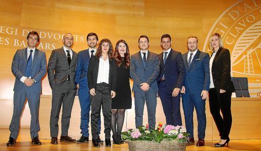 La nueva junta: Ignacio Roa, Ángel Hoyo, Antonio Libar, Noelia Cardona, Lydia Blanco, J. Pablo Maza, José Manuel Sánchez, Alejandro Jiménez y Sonia Muñoz.