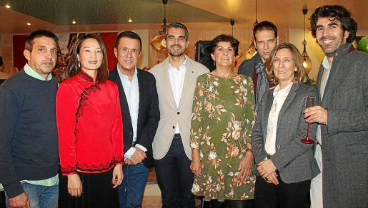 Matías Rosselló, Weifen Wang, Jaime Colomar, Jaime Campaner, Silvia Planas, Pedro Vidal, Margalida Pons y Juan Miguel Seguí.