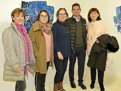 Francisca Bergas, Bel Mas, Maria Magdalena Marimón, Alex Colom y Sebastiana Moranta.