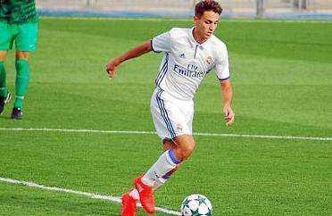 Gori López, en su etapa con en la cantera del Real Madrid.
