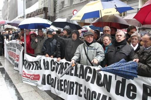 Imagen de la protesta en Madrid.